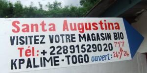 SANTA AUGUSTINA, MAGASIN BIO A KPALIME plaque.2-300x149
